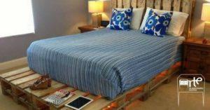 móveis de pallets cama