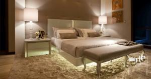 iluminação para móveis cama arte da marcenaria moderna