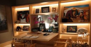 iluminação para móveis estante arte da marcenaria moderna