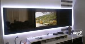 iluminação para móveis painel de tv arte da marcenaria moderna